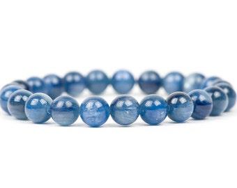 Kyanite Bracelet, Blue Gemstone Bracelet,