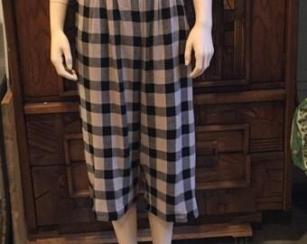 Vintage Checkered Gauchos