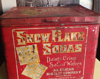 "Early 1900's San Francisco ""Snow Flake Soda"""