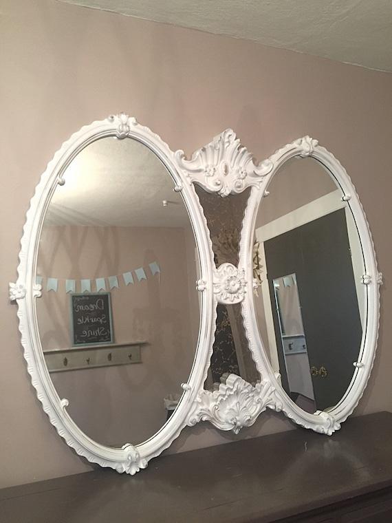 Oval baroque mirror wall hanging mirror by farmhousefare for Baroque bathroom mirror