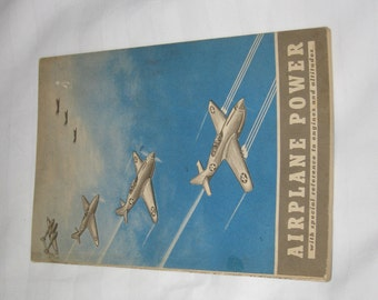 vintage copyrighted 1943 airplane power book    free shipping in the usa!!!