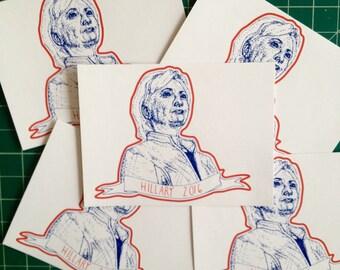 Hillary Clinton political sticker