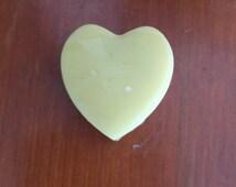 Set of 5 Lotion bars. Heart lotion bars. All-natural lotion. Beeswax lotion bar.