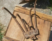 Sale Rustic Plow Rake Attachment Vintage 5 Cultivator Claw Hand Garden Plow Farmhouse Industrial Salvage Decor Gardening Tool Upcycle Ready