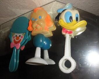 Danara Disney Donald Duck Rattle with Dog and a Clown Mirror