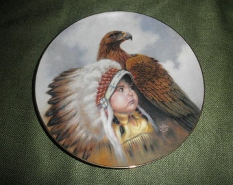 "Perillo Porcelain Plate ""Protector of the Plains"" 1989"