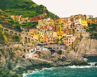 Italy Photography, Summer in Cinque Terre, Manarola Italy, beach photography,Italian home decor, Cinque Terre Art, bedroom art, italy travel