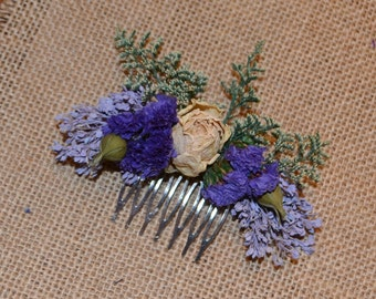 Hair comb, Hair accessory, Wedding hair comb, Dried flower comb, Wedding hair accessory  -Can Be Custom Made to Order
