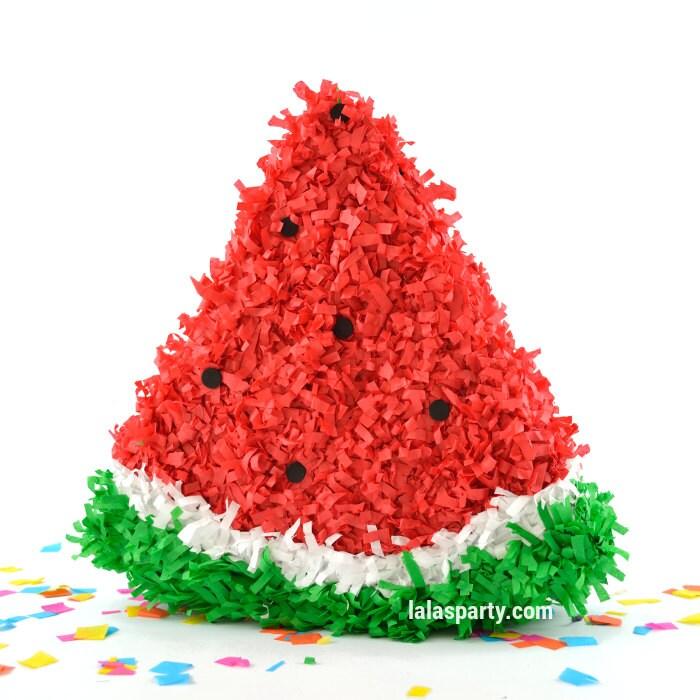 Watermelon pinata fruit pinata fruit party theme birthday for Decoration pinata