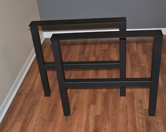 Metal Coffee Table Legs - Steel H-Frame Style - Any Size!