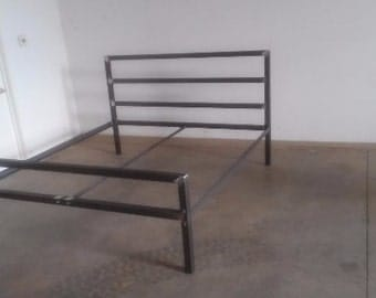 industrial steel bed frame twinqueenking free shipping