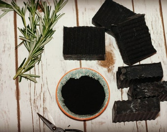 Activated bamboo charcoal soap