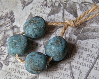 NEW! Rustic Forest Pebbles, Pond, Faux Pebble Bead, Rustic Pebble Bead, Polymer Clay Pebble Bead