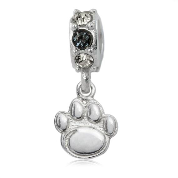 penn state nittany sterling silver spirit charm bead