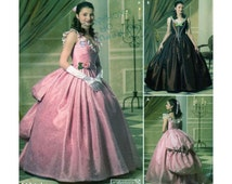 Adult Halloween Costume Simplicity 4479/0584 Ballgown: Southern Bell, Phantom of the Opera, Steampunk Cosplay Women Size 6-8-10-12 UNCUT