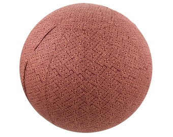 65cm Earth Indigenous Exercise Ball Cover, Yoga Ball Cover, Fitness Ball Cover, Fair Trade.