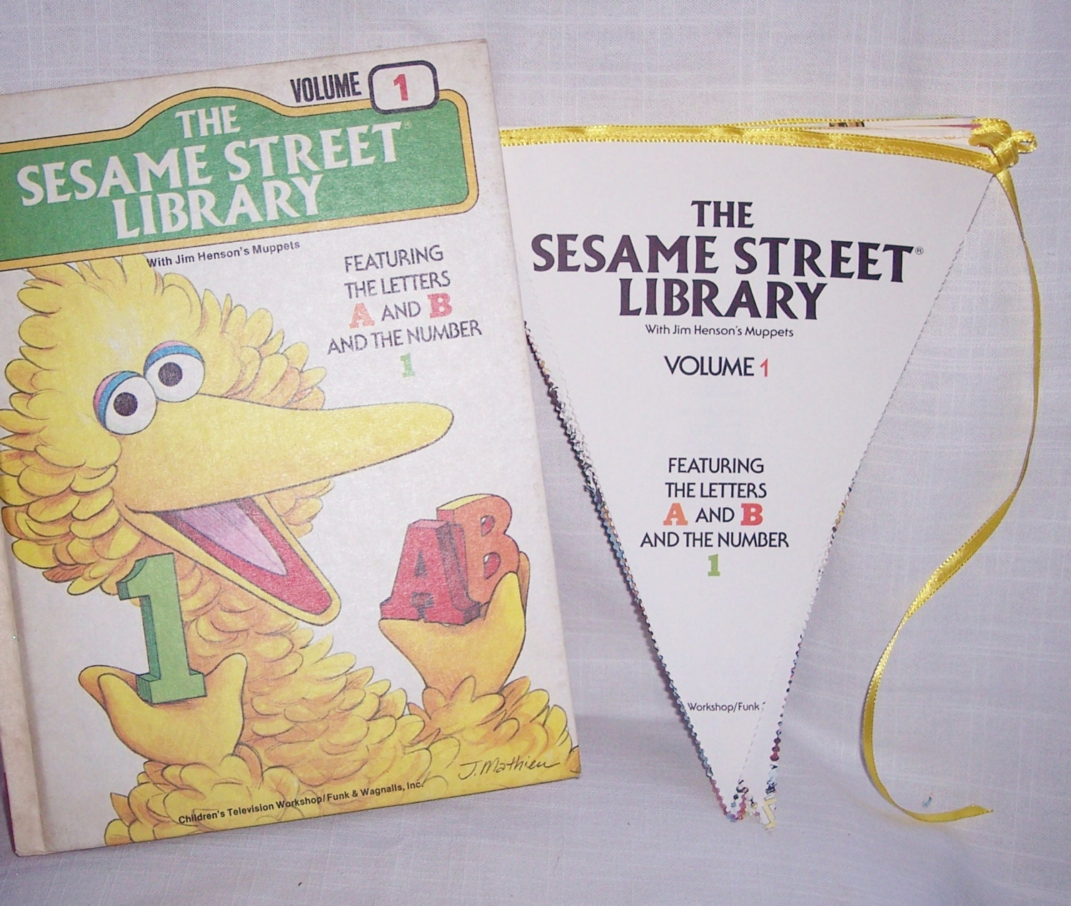 Big Bird Sesame Street The Letters A & B Number