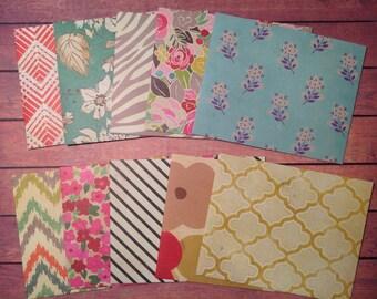 Mini envelopes, handmade envelopes, set of 10 envelopes, envelopes,