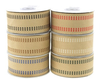 Burlap Webbing Stitch Ribbon, 1-1/2-inch, 10-yard