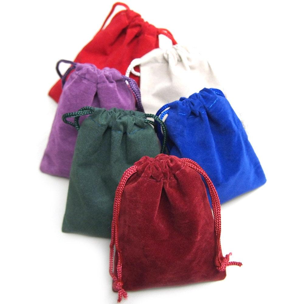 Velvet jewelry gift bags inch piece