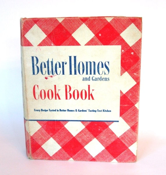 Vintage 1940 39 S Better Homes And Gardens Cookbook Red