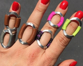 Silver Leather Rings (R2)