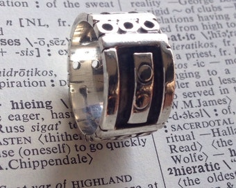 Vintage Modern Mexico Silver Band Ring - size 6 - Sterling Silver Mid Century