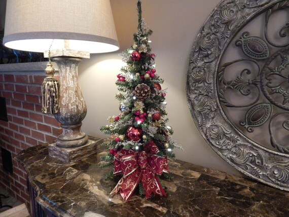 Christmas Wreath Christmas Tree Topiary Table Top Tree