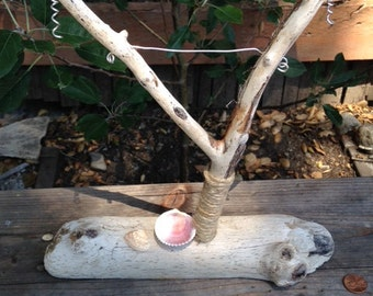 Driftwood Jewelry Holder for Earrings