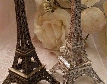 Eiffel Tower Cake Topper, Eiffel Tower Decoration, Wedding Favor, Antique Silver Wedding Decoration, Engagement Party Favor, Eiffel Favors