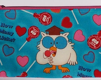 Tootsie Pop Owl Zippered Pouch