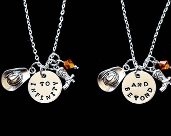 Friendship necklace-To infinity and beyond-Best friend necklace for 2-Friendship necklace-BFF-Best Friends-Friends Forever