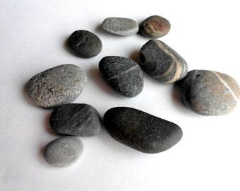 Natural Baltic sea stones / rocks, 10 pieces
