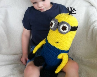 Crochet Minion, Amigurumi Minion, Stuffed Minion, Stuffed Toy