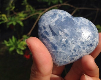 Blue Calcite Heart
