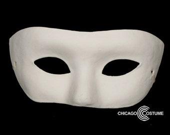 Paintable White Masquerade Mask
