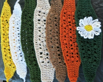 Hand-crocheted headband with optional flower