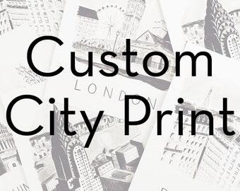 Custom City Print