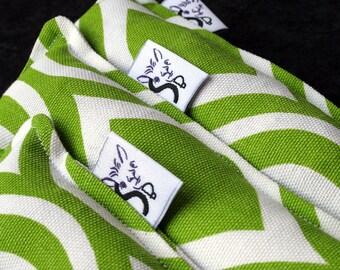 Twill Kitty Nip Kicker Catnip Cat Toy in Chartreuse Kimono