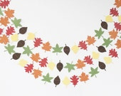 Fall Leaf Wedding Garland / Thanksgiving Garland / Harvest Party / Fall Leaves Wedding Decor / Thanksgiving Decor / Autumn Fall Photo Prop