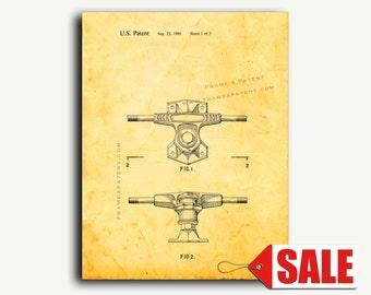 Patent Print - Skateboard Truck Patent Wall Art Poster