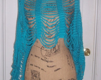 Crocheted Poncho Shawl/Cape