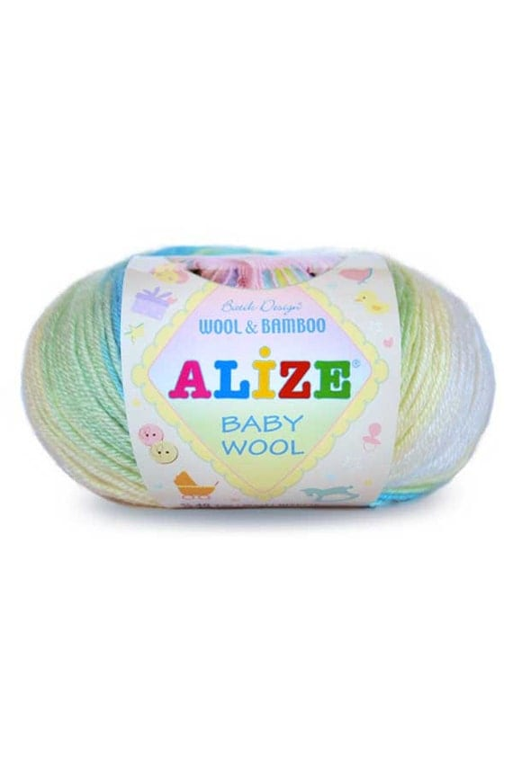 Alize BABY Wool Batik Design High Quality Tyrkish Yarn with Wool and ...
