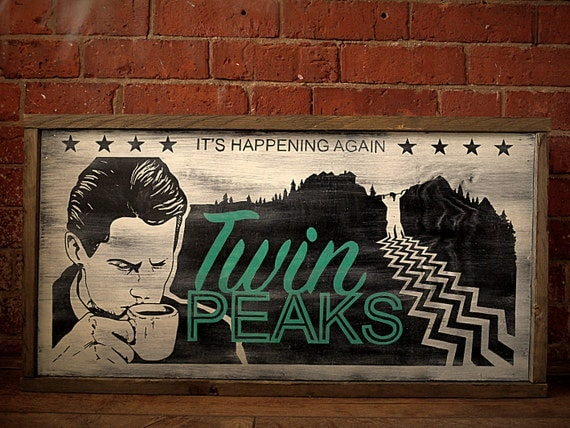 Twin Peaks Lobby Board. Hand Painted. Original Design.