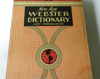 Vintage Websters Dictionary- with box cover