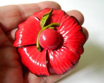 Lovely red poppy pin