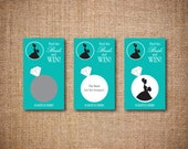 Bridal Scratch Off Cards - Bridal Shower Game / Bachelorette Party Game - Find the Bride and Win! - Turquoise