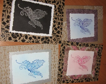 Butterfly Quartet Card Collection (set of 4)