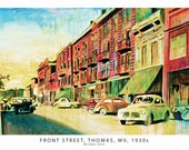 Front Street, Thomas, WV, 1930s Print Oil Painting by Michael Doig