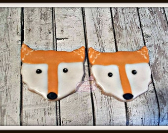 Fox Decorated sugar cookies -1 dozen